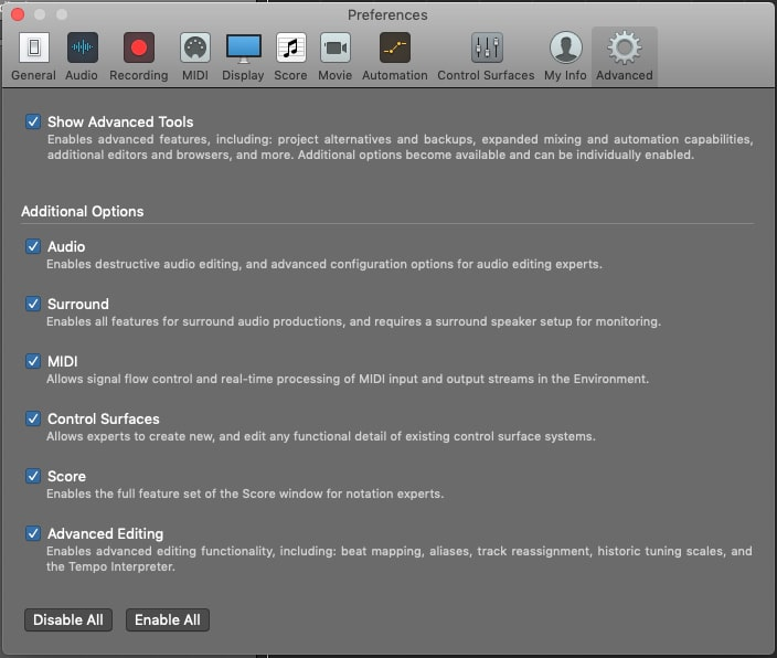 Save time with the Advanced Tools Menu...